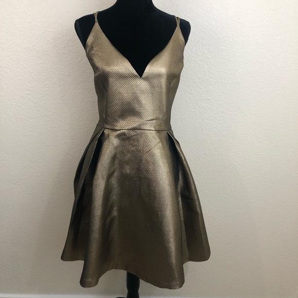 8a6926b0b1c Fashion Nova Dresses   Skirts - Fashion Nova Avenue Metallic Dress Size 2XL